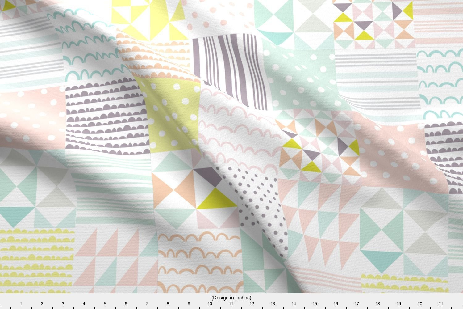 Spoonflower cheater quilt fabric pastel cheater quilt fabric pastels by stitch press cheater quilt fabric printed on basic cotton ultra fabric by the