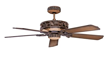 rustic ceiling fan blades log cabin concord 52pd5owl ceiling fans old world leather finish rustic