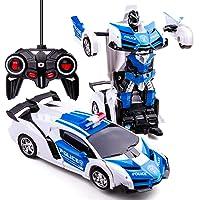 Transformers Toys 2-in-1 transformator, auto, RC auto, voor kinderen, vervorming, robot, speelgoed voor jongens van 3-12…