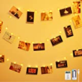 Anpro 50 LED Photo Clip String Lights- 5M Fairy Light Photo Clips, LED Photo Lights Pegs for Bedroom Decoration,Hanging…