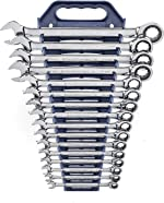 GEARWRENCH 12 Pt. Ratcheting Combination Wrench Set, 16 Pc. Metric -