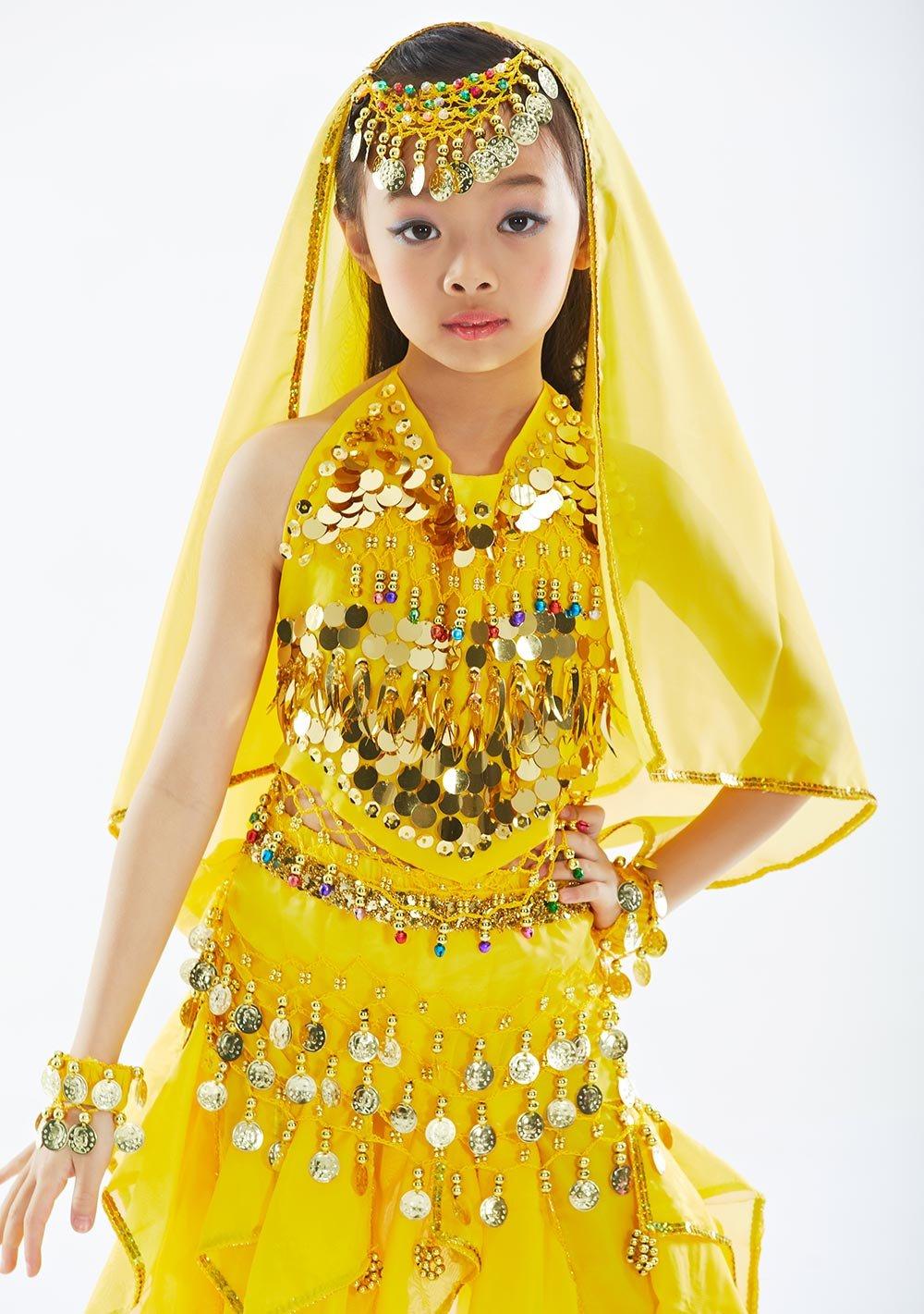 BELLYQUEEN Robe Danse Ventre Fille Costume Classique Danse Oriental Belly  Dance 7 Pcs Top+Sarouel Agrandir l image cf630c092da