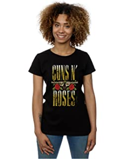 N Para And RosesAmazon esRopa Roses Guns Camiseta Mujer dhtsQr