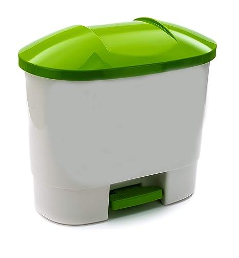 Bittamina Cubo de Basura 50 litros com 3 Compartimentos para Reciclaje Verde