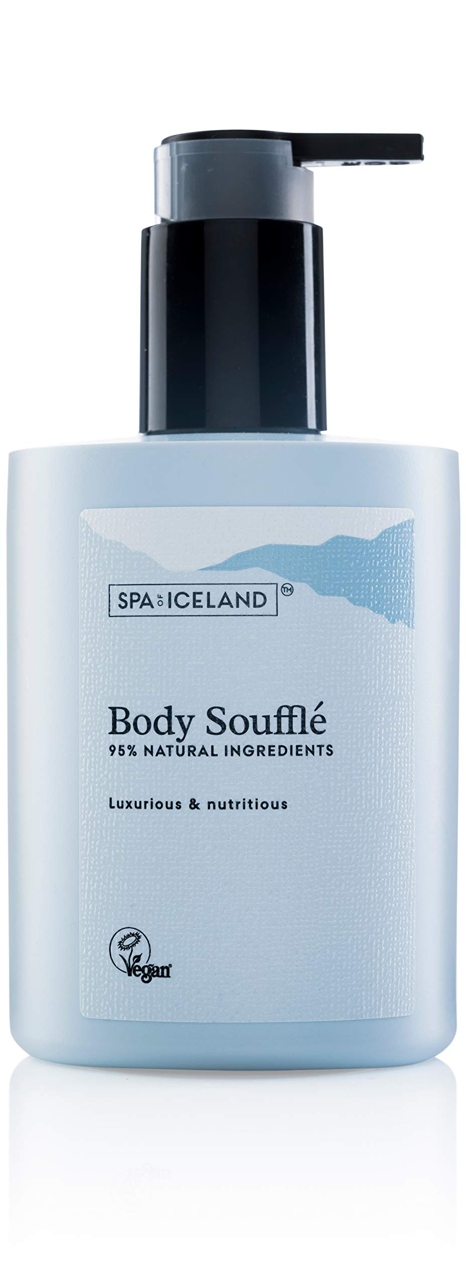 Spa Of Iceland Luxurious Body Souffle Natural Moisturizer - Nutritious Body Cream For Men & Women - Moisturizing Lotion For Dry Skin With Shea Butter, Coconut Oil, Almond Oil & Cacao Butter - 300ml by Spa of Iceland