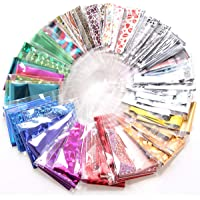 50st nail art folie overdracht stickers laser bloem luipaardprint nagel folie zelfklevende stickers sky tips