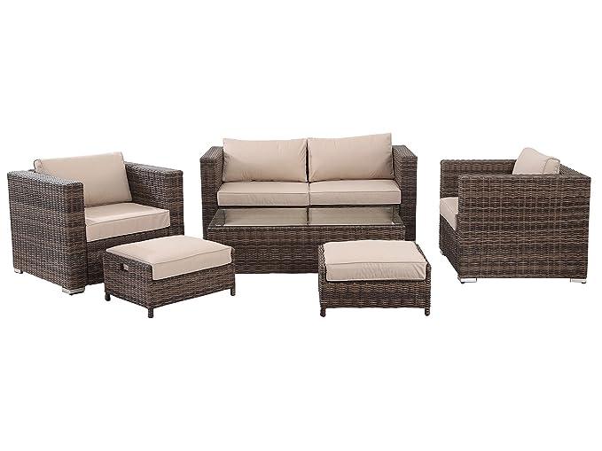 HOMHH Florida - Juego de muebles de conversación para patio ...