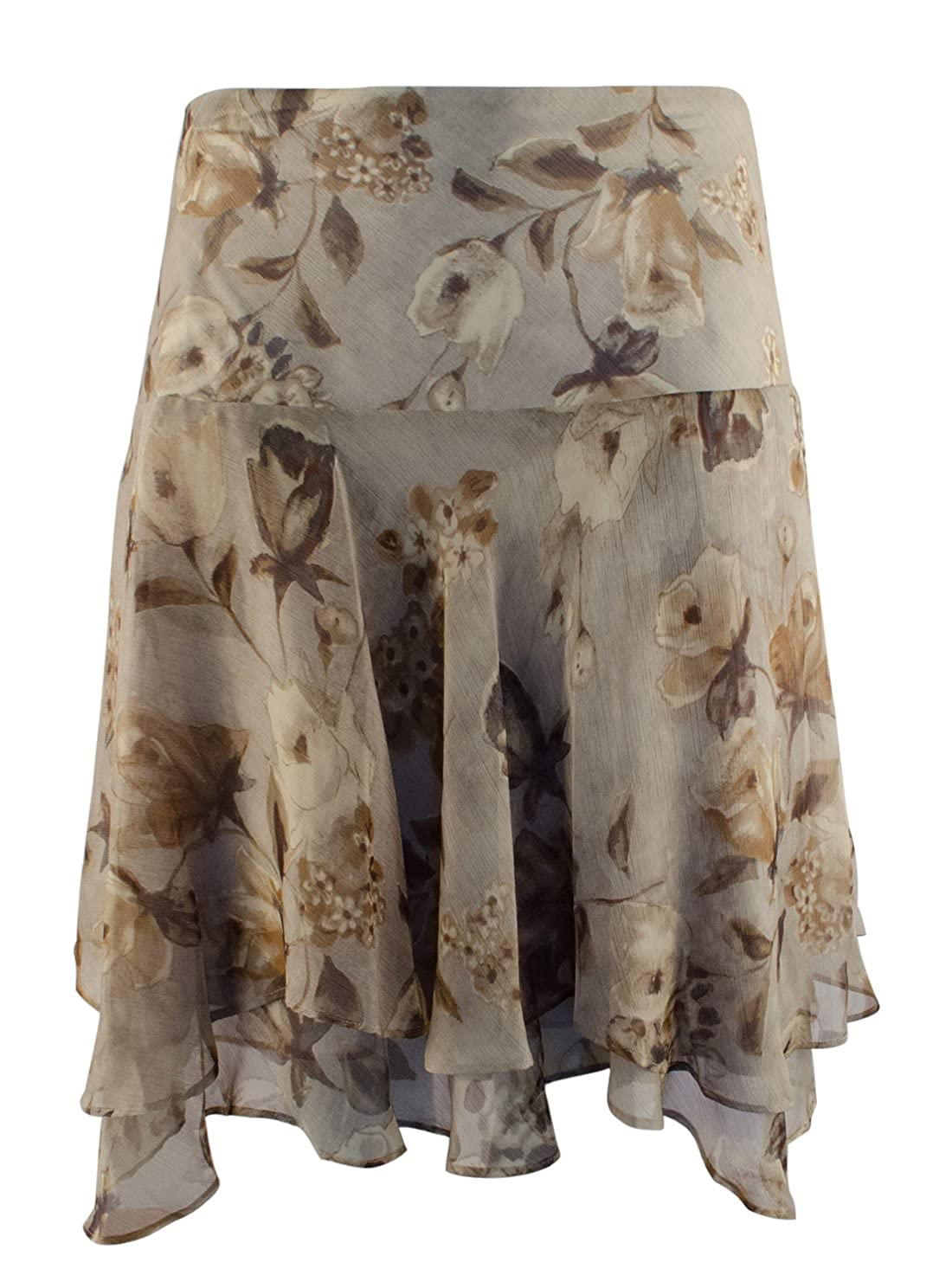 Lauren Ralph Lauren Women's Plus Size Floral Georgette Skirt