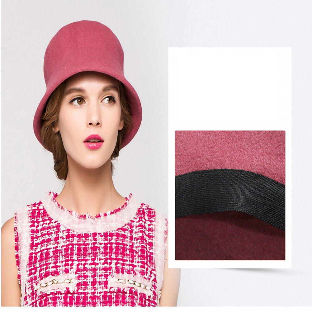 Maitose Trade  Womens Simple Wool Felt Bucket Hat 17117-Black-1 7eb58cbd9288