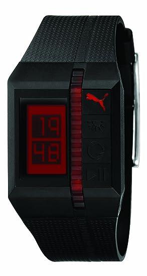 Puma A.PU910511001 - Reloj Digital de Caballero de Cuarzo con Correa de Resina Negra