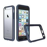 RhinoShield Coque pour iPhone 6 / iPhone 6s [Bumper CrashGuard]   Housse Fine avec Technologie Absorption des Chocs [Résiste aux Chutes de Plus de 3,5 mètres] - Bleu Foncé