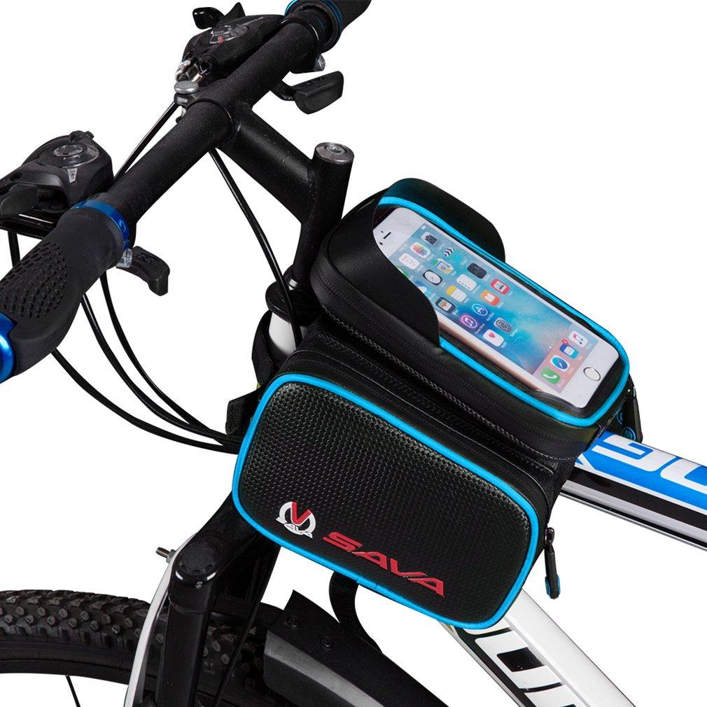 SAVADECK Bolsa Bicicleta Movil Bicicleta Funda Impermeable con PVC para Teléfonos Móviles hasta 6.0