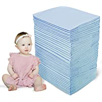 CHILDREN'S GANG 100 Pack Baby Disposable Changing Pad Super Soft Ultra Absorbent Cotton Pet Training Pads Changing Pads…