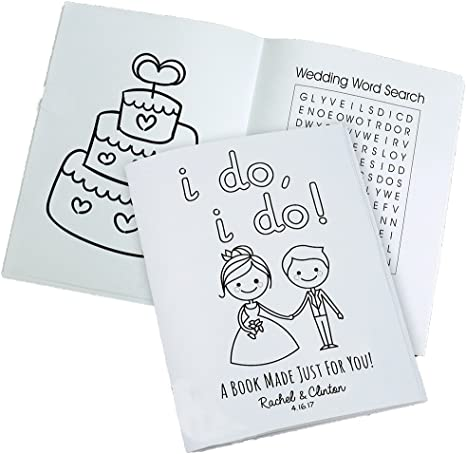 Amazon.com: GiftsForYouNow Personalized Wedding Coloring Book, 20 Pages, 24  Crayons Included: Home & Kitchen