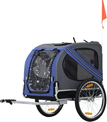 Aosom-Bike-Trailer-Cargo-Cart-for-Dogs-and-Pets