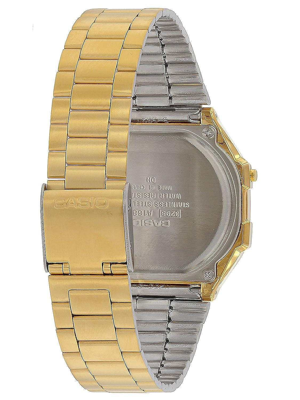 cf4b819fc54768 Casio Collection Unisex Adults Watch A168WEGC-5EF: Amazon.co.uk: Watches