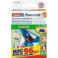 Tesa Powerstrips POSTER / dubbelzijdige plakstrip voor posters, affiches en lichte borden tot 200 g - verwijderbaar en…