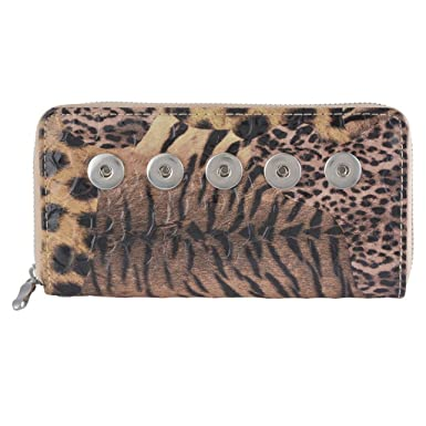 Mitón De Manera Del Bolso Cartera De Mano De PU Del Bolso Del Totalizador Bolsa De La Carpeta Del Partido Del Leopardo: Amazon.es: Ropa y accesorios