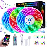LED Strip Lights Super Bright 450 LEDs AUT Bluetooth Pair 50FT Light for APP Sync Music TV, Bedroom, Kitchen Under…