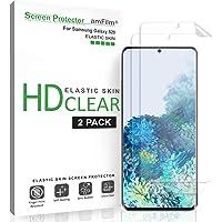 amFilm Protector Pantalla Galaxy S20 (2 Piezas), Anti-Burbujas (Compatible con Escáner Táctil) HD Claro Flexible…