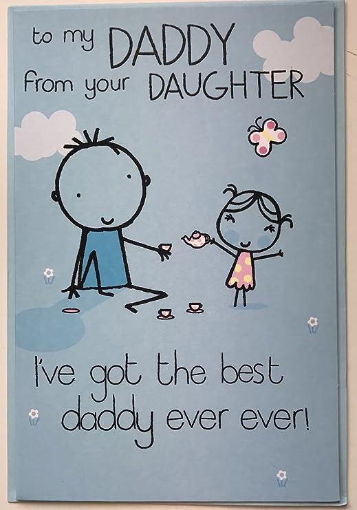 A Papá de su hija de la tarjeta del día del padre: Amazon.es ...