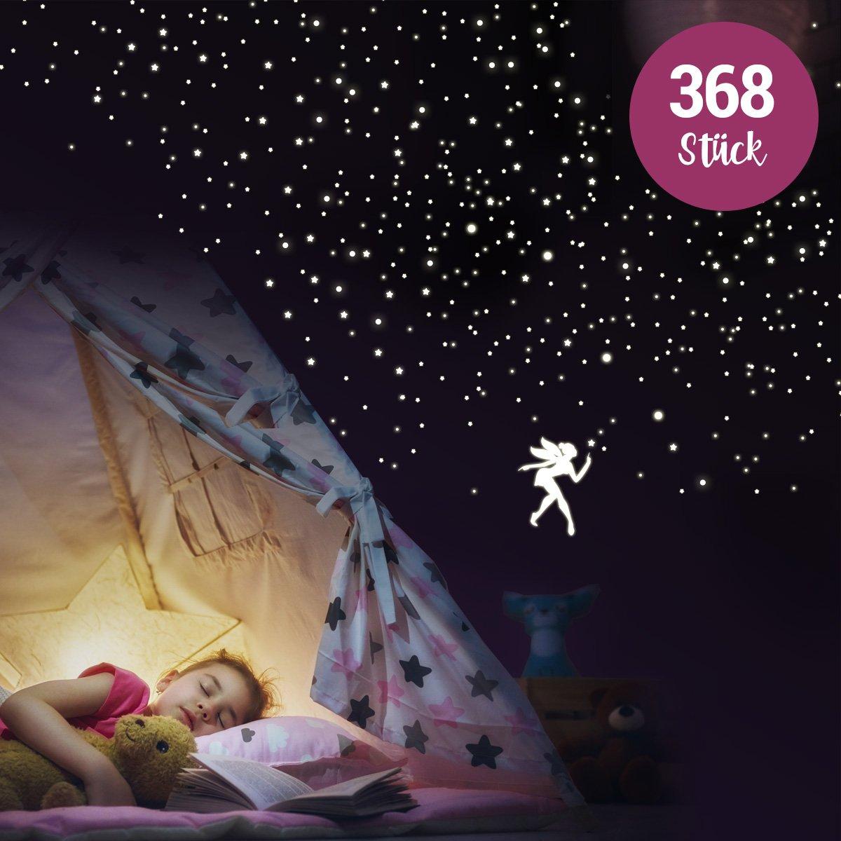1400 Teile Set Leucht Sterne Sternenhimmel nachtleuchtende UV ...