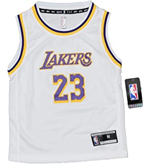 Outerstuff Lebron James Los Angeles Lakers Kids 4-7 NBA Replica Jersey -  White ffe76a65d