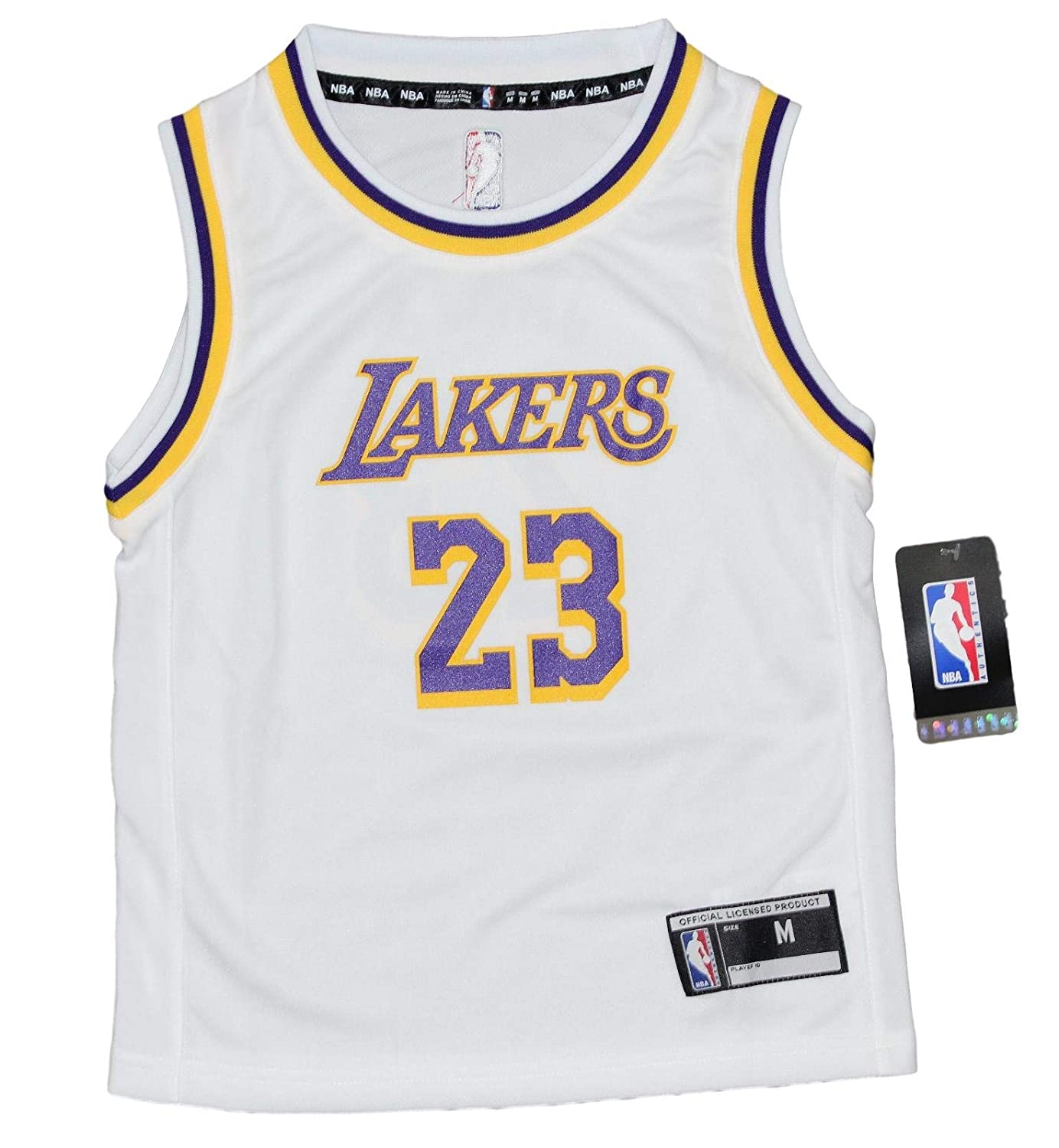 7ed11328cbc Amazon.com   Outerstuff Lebron James Los Angeles Lakers Kids 4-7 NBA  Replica Jersey - White   Sports   Outdoors