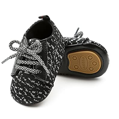 4ee188c3ee71 HONGTEYA Toddler Baby Shoes - Boys Girls Lace-up Breathable Sneaker Hard  Soled Infant First