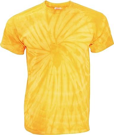 TDUK - Camiseta psicodélica modelo espiral de manga corta para hombre 100% Algodón- Verano Hippie (Pequeña (S)/Oro espiral): Amazon.es: Ropa y accesorios