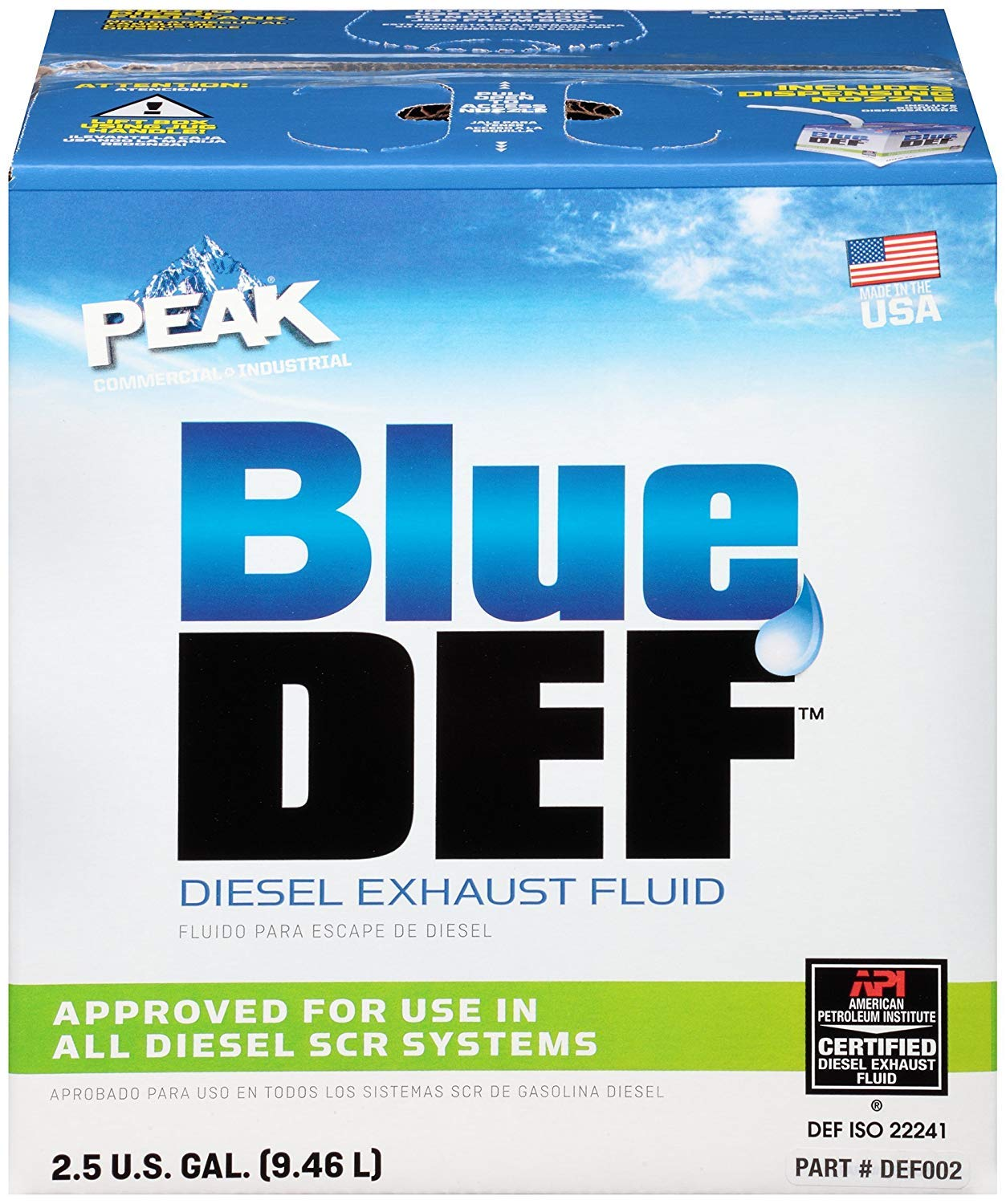 BlueDEF DEF002 Diesel Exhaust Fluid - 2.5 Gallon Jug (8)