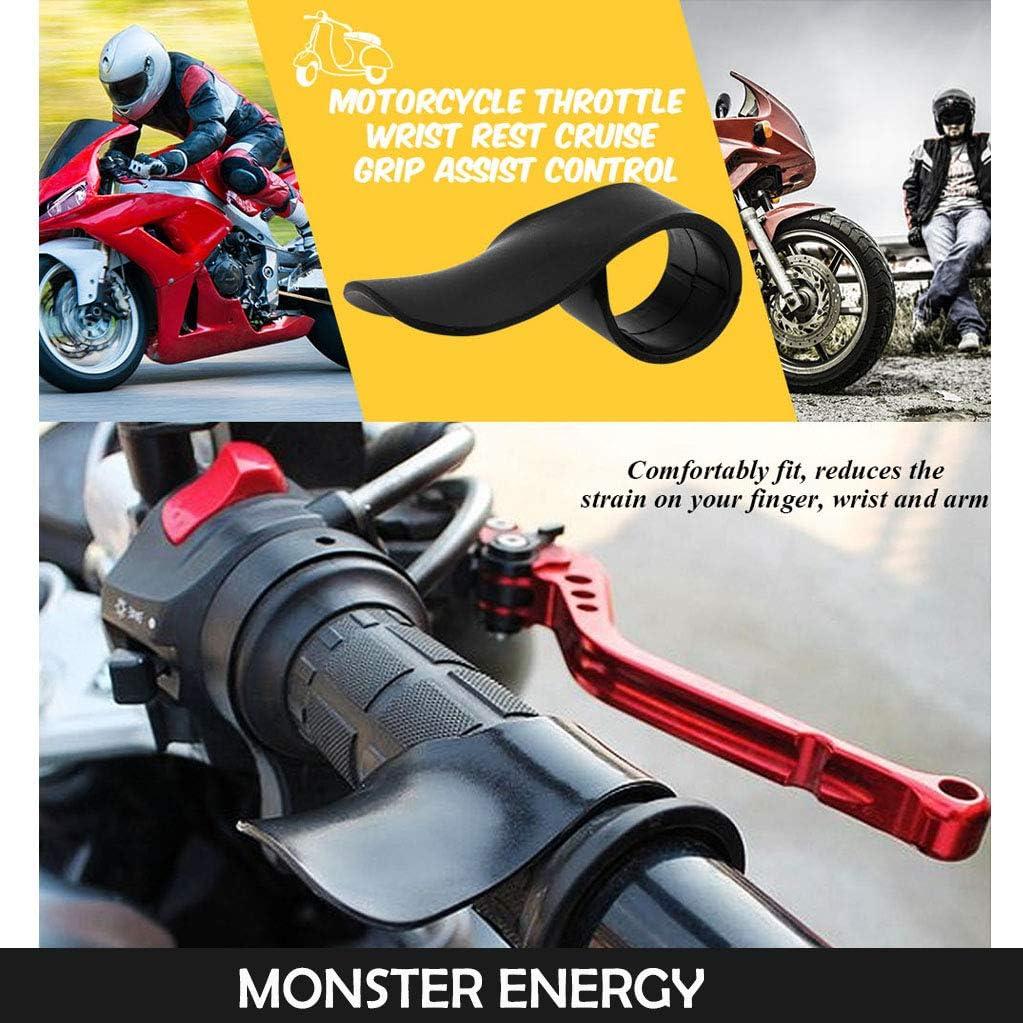 Throttle Black Fuel Saving Aid Motorcycle Wrist Rest Assist Cruise Contro Grip