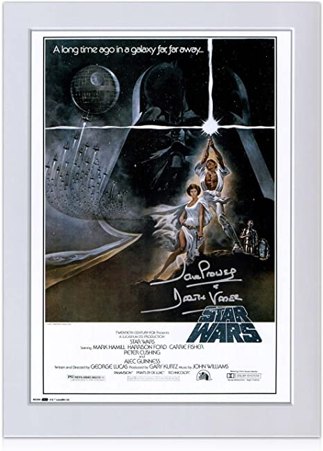 Darth Vader de Star Wars Firmado póster (Silver Signature): Amazon ...
