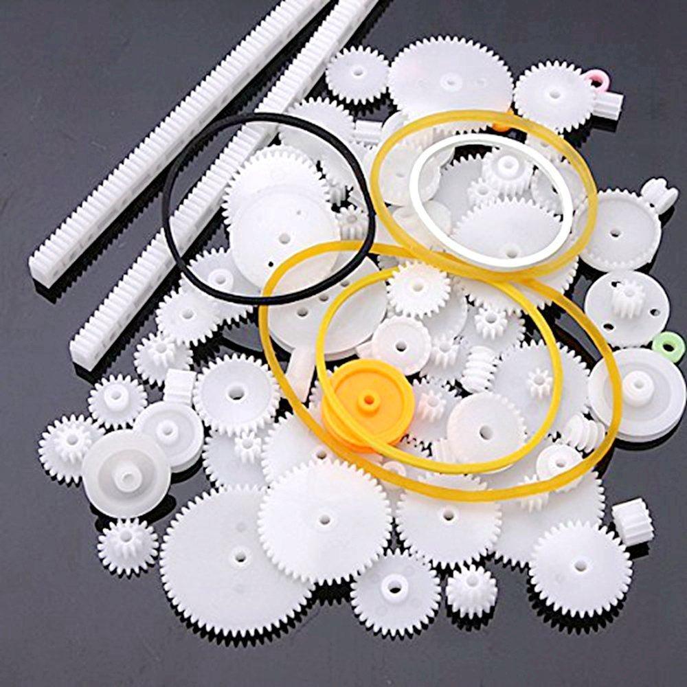 Ndier 58 Unidades de pl/ástico Ruedas dentadas M/ódulo 0.5 Ideales para Robots de Bricolaje