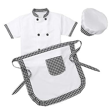 MSemis Unisex Disfraz de Cocinero para Niños Niñas Cosplay ...