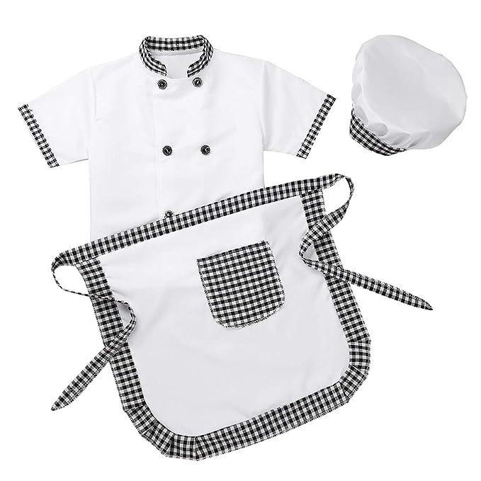 iiniim Disfraz Chef Infantil Niño Niña Unisex Cosplay Cocinero ...