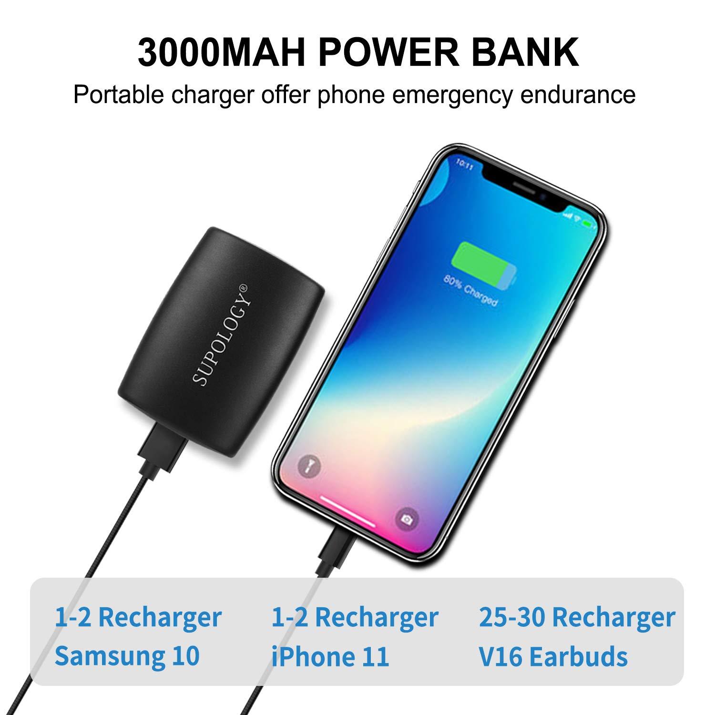 Bluetooth 50 Wireless Earbuds 2020 Upgraded inEar Headphones with Deep Bass 3000mAh Power Bank