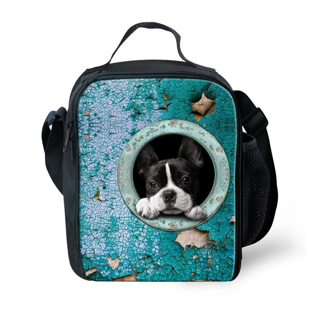 f78441f6b1a7 LedBack Cute Kids Insulated Lunch Bag for Boys Girls Animal Dog ...