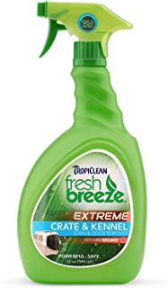 product image for TropiClean Fresh Breeze Crate & Kennel Stain and Odor Remover, 32oz