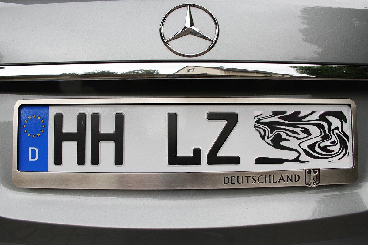 Moto 1x Luxus Kennzeichenhalterung Kennzeichenhalter Edelstahl ...