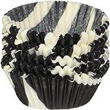 Jubilee Sweet Arts 100 Count Baking Cups, Mini, Black White Zebra