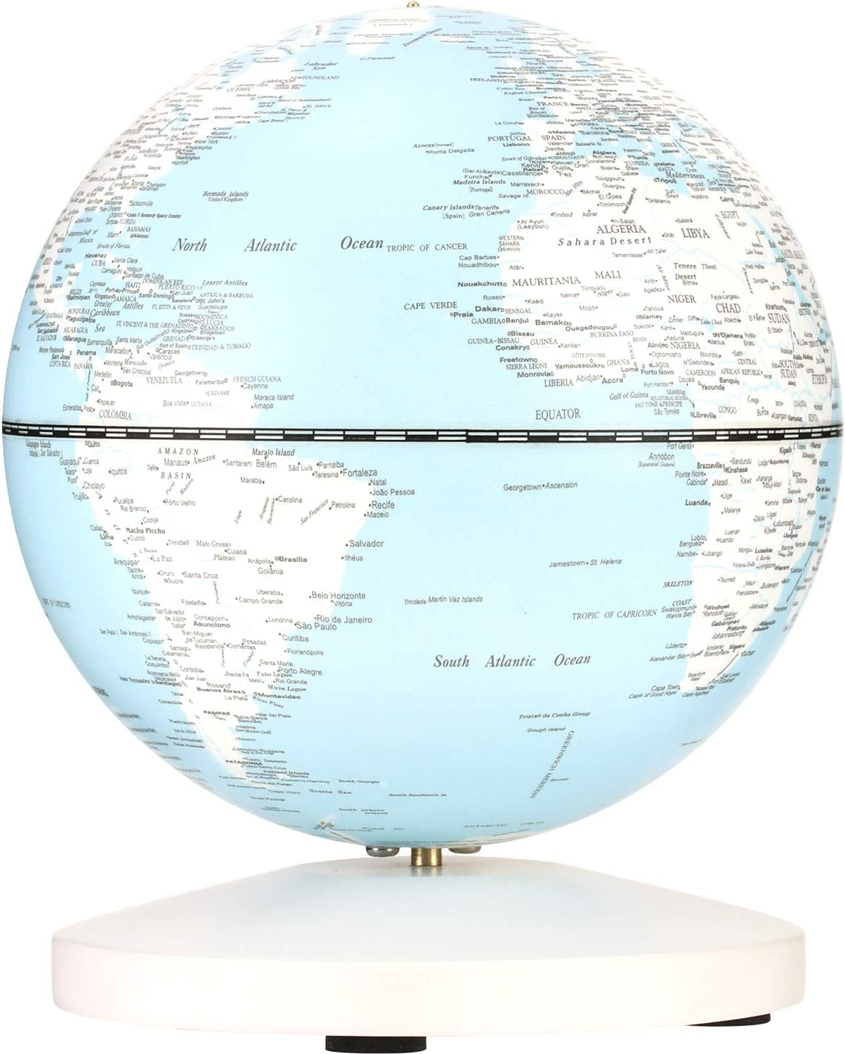 FMOGE Globes World Sphere map Globe with LED Lights Desktop Decoration Blue Earth,Model 12 Inches Creative Gift