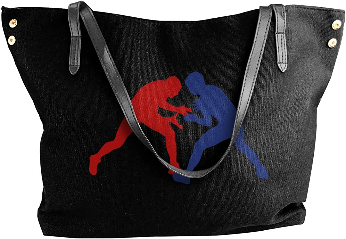 3D Horse Women Zipper Canvas Shoulder Bag Handbag Oversized