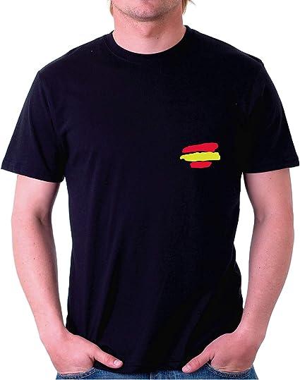 Custom Vinyl Camiseta Bandera España (Negro, L): Amazon.es: Coche y moto