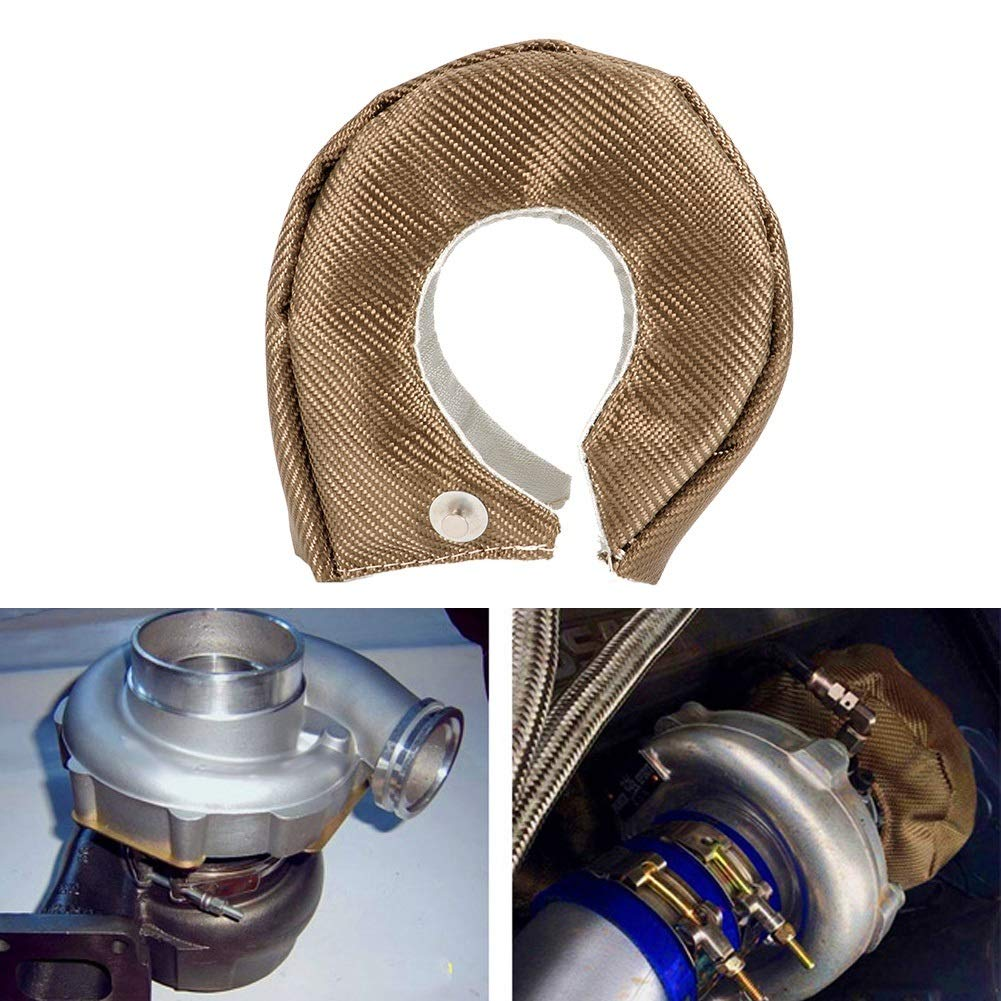 Turbo Heat Shield,Single Titanium Turbo Heat Shield Blanket Barrier Turbo Charger Cover T3//GT35//GT37//GT40//GT42