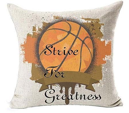 Lino y algodón cita cartas Strive para grandeza deportivas ...