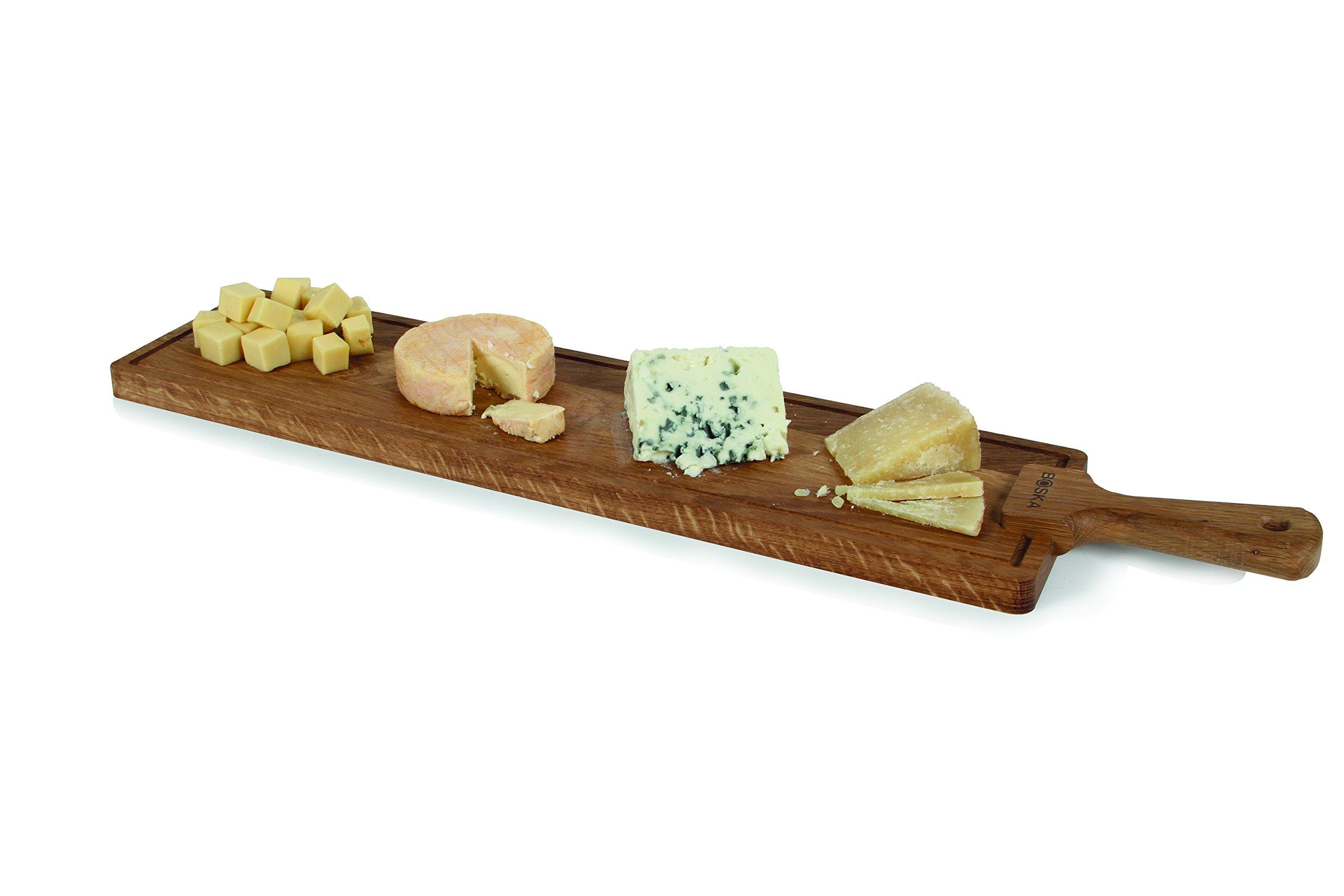 Boska Holland European Oak Wood Cheese Board, Rectangle Paddle Board, 28'' x 6'', Life Collection