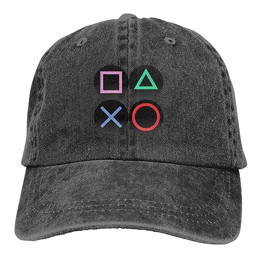Playstation Joypad Washed Denim Hat Adjustable Unisex Dad Baseball Cap at  Amazon Men s Clothing store  a604d5a72a74