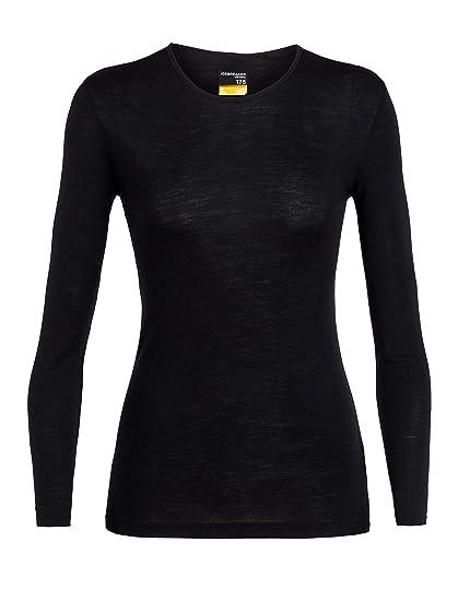 441081d427 Icebreaker Merino Women's 175 Everyday Long Sleeve Crewe , Black, ...