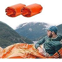 Saco de Emergencia Dormir,Aislamiento Térmico, Ligero y Reutilizable ,Sacos de Vivac, Supervivencia Impermeable Manta…